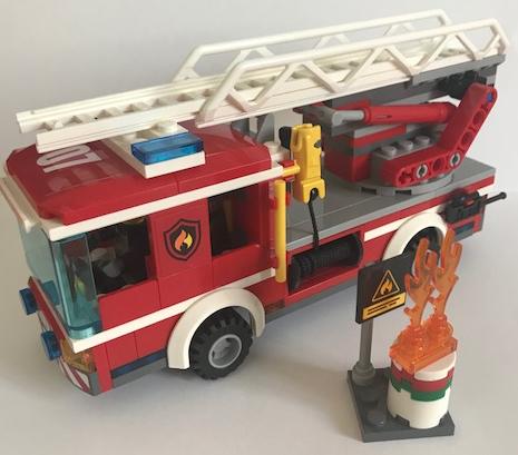 Lego City Fire Ladder Truck 60107 Set Review Legobrickblog